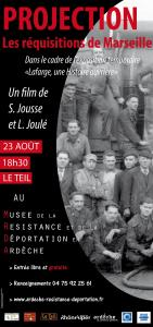 "Projection documentaire ""Les réquisitions de Marseille"""